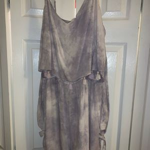 Grey and lavender romper from American Eagle